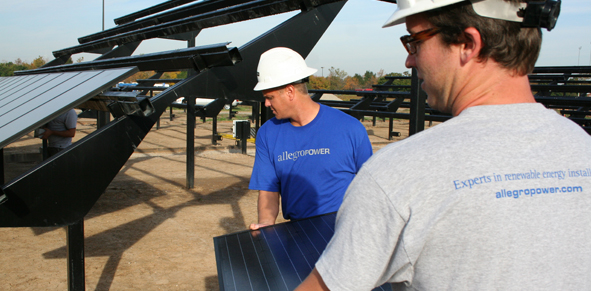 Allegro Power completes work on Solar Strand at State University of New York at Buffalo.